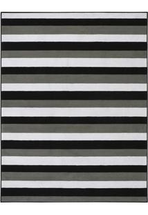 Tapete Tufting Ilusion- Preto & Branco- 195X150Cm