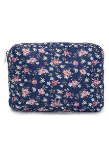 Clutch Feminina Floral M - Azul