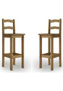 Jogo Com 02 Cadeiras Bistrô 8370 Mpo Rustic Line Cera