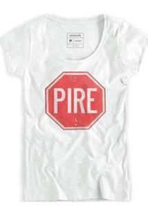 Camiseta Pire Fem Reserva Masculina - Masculino-Branco