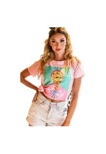Camiseta T-Shirt Geb Bros Boo Rosa