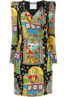 Moschino Casino Print Dress - Preto