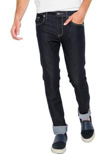 Calça Jeans Lacoste Slim City Pants Azul