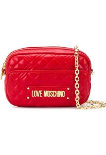 Love Moschino Bolsa Tiracolo Matelassê - Vermelho