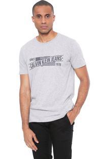 Camiseta Calvin Klein Jeans Since 1978 Cinza