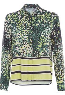 Camisa Feminina Barrado Punt - Verde