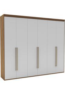 Guarda-Roupa Casal 2,27Cm 6 Portas Originale Fosco-Belmax - Ebano / Branco
