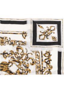 Versace Lenço Com Estampa Barroca - Branco