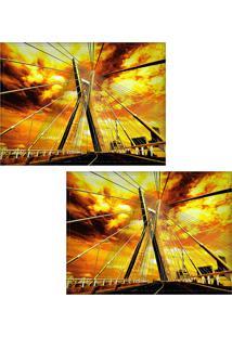 Jogo Americano Colours Creative Photo Decor - Ponte Estaiada Em São Paulo, Sp - 2 Peças