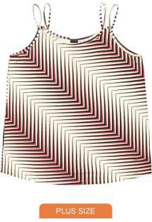 Blusa Feminina De Alça Vermelho