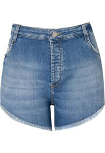 Shorts Jeans Vintage Vista Com Botao (Jeans Claro, 38)