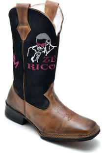 d391fd4e550ad ... Bota Top Franca Shoes Country Masculino - Masculino-Marrom
