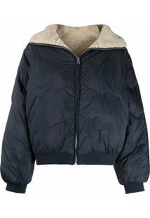 Ba&Sh Reversible Padded Zip-Up Jacket - Azul