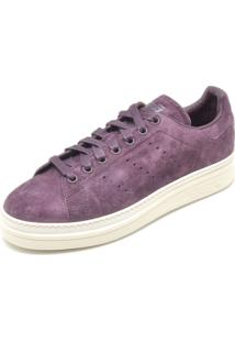 ... Tênis Couro Adidas Originals Stan Smith New Bold W Roxo 6116a155df3