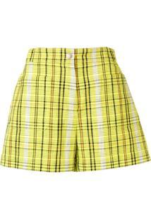 Kenzo Check Shorts - Amarelo