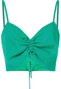 Pinko Blusa Com Detalhe Franzido - Verde