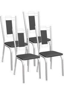Cadeira Kappesberg Florença 4C005 (4 Uni) Cromad/Preto