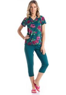 Pijama Daniela Capri - P959 Verde/Xg