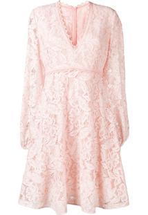 Giamba Vestido De Renda Floral - Rosa