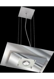 Pendente Saturno Aluminio E Vidro Lmr 139 Escovado Espelhado Bivolt