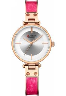Relógio Curren Analógico C9058L Rosê E Rosa