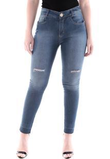 Calça 4004 Jeans Skinny Traymon Azul Indigo - Tricae