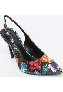Sapato Chanel Em Couro - Preto & Vermelho - Salto: 1Jorge Bischoff