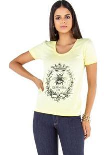 Camiseta Latifundio T-Shirt Queen Bee Feminina - Feminino-Verde