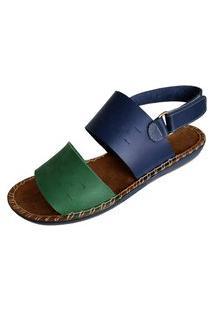 Sandália Scarpe Pespontos Verde
