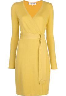 Diane Von Furstenberg Vestido Envelope Linda - Amarelo