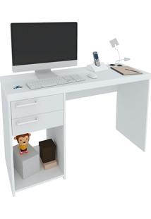 Escrivaninha Com 2 Gavetas Avila - Artany - Branco