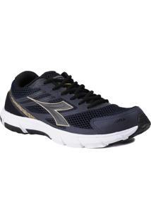 Tênis Esportivo Masculino Diadora Speed Azul/Dourado 38