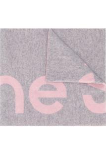 Acne Studios Cachecol De Jacquard Com Logo - Rosa