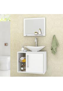 Conjunto Para Banheiro Baden Branco - Bechara Móveis