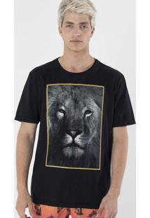 Camiseta Com Estampa Leão