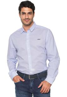 Camisa Colcci Slim Estampada Azul
