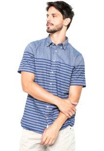 Camisa Tommy Hilfiger Real Indigo Azul