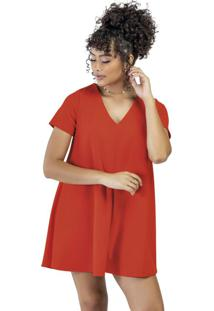 Vestido Curto Evasê Vermelho