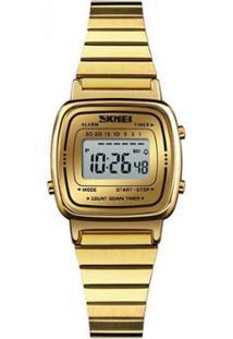 92db2d1a324 Relógio Digital Digital Dourado feminino