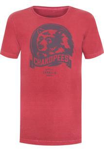 Camiseta Masculina Chakopees - Vermelho