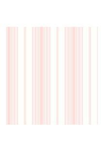 Papel De Parede Coleçáo Bambinos Rosa Branco Listras 3360 Bobinex