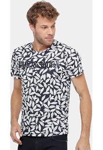 Camiseta Colcci Full Print Folhas Masculina - Masculino