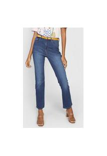 Calça Jeans Cantão Reta Super Comfort Azul