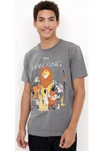 Camiseta Com Estampa Rei Leão