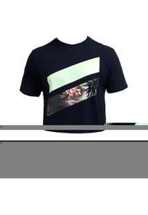 Camiseta Hurley Slash Palms Masculina - Masculino