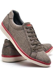 Sapatenis Top Franca Shoes Masculino - Masculino-Marrom Claro
