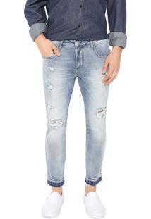 Calça Jeans Forum Skinny Cropped Johann Azul