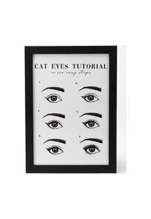 Amaro Feminino Quadro Cat Eyes 22 Cm X 32 Cm, Cat Eyes