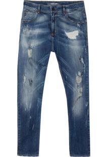 Calça John John Mc Rock Chadmo Jeans Azul Masculina (Jeans Medio, 42)
