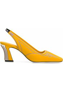 Fendi Sapato Ffreedom Com Tiras Posteriores - Amarelo